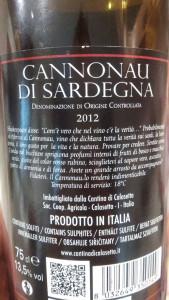 Cannonau-etichetta