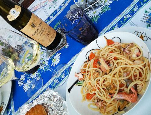 Le ricette di Vinamour… Capesante, spaghetti allo scoglio e coda di rospo
