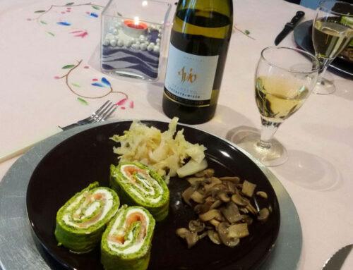 Le ricette di Vinamour… Rotolo verde con salmone e formaggio