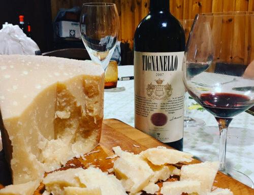 Tignanello Antinori e Parmigiano Reggiano