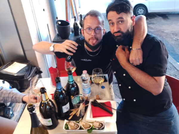Il Presidente Vinamour Dino Ferrari e lo Chef Andrea