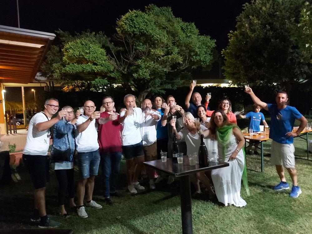 Al Circolo Tennis Raldon di San Giovanni Lupatoto si festeggia con il Sindaco Attilio Gastaldello la vittoria dell'Italia agli Europei 2020