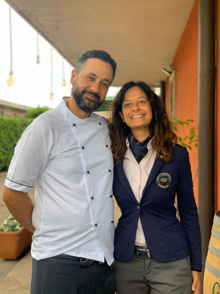 Lo Chef Andrea Lettica e la sommelier Sara Mariotto