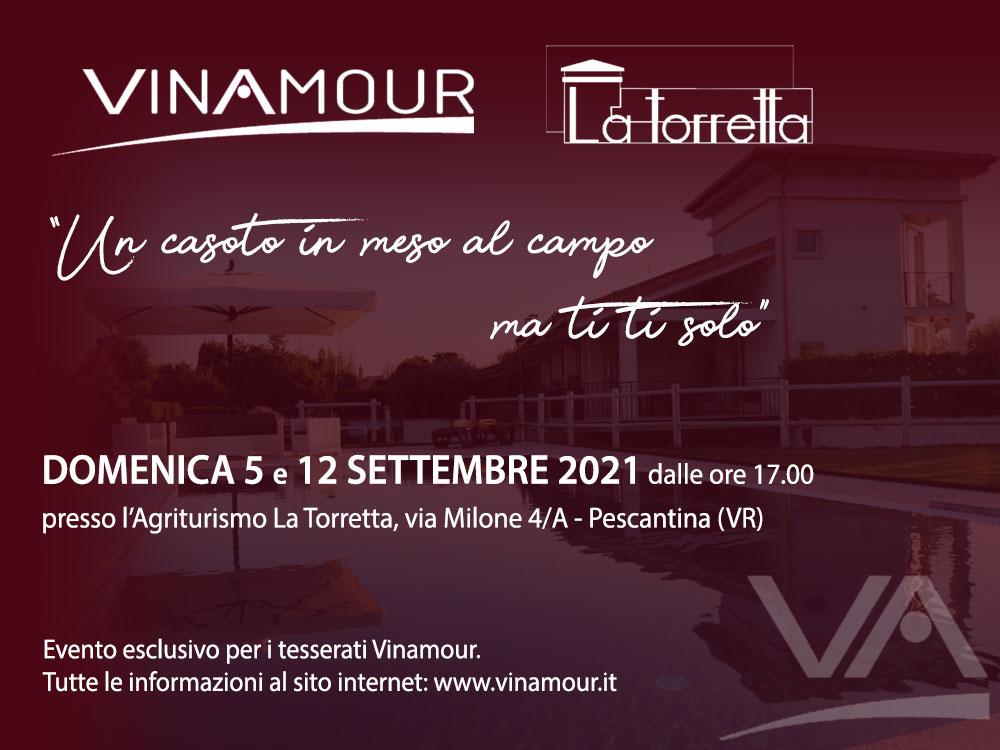 Vinamour e La Torretta vi invitano all'evento degustazione del 5 e 12 settembre 2021