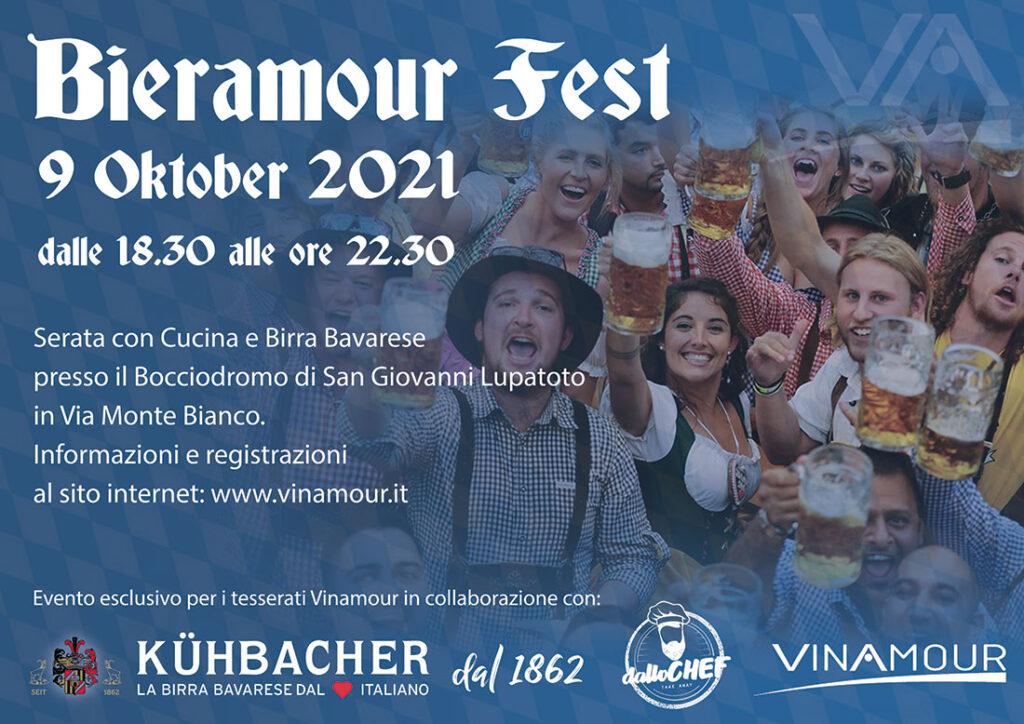Vinamour presenta: Bieramour Fest, sabato 9 ottobre 2021 al Bocciodromo di San Giovanni Lupatoto