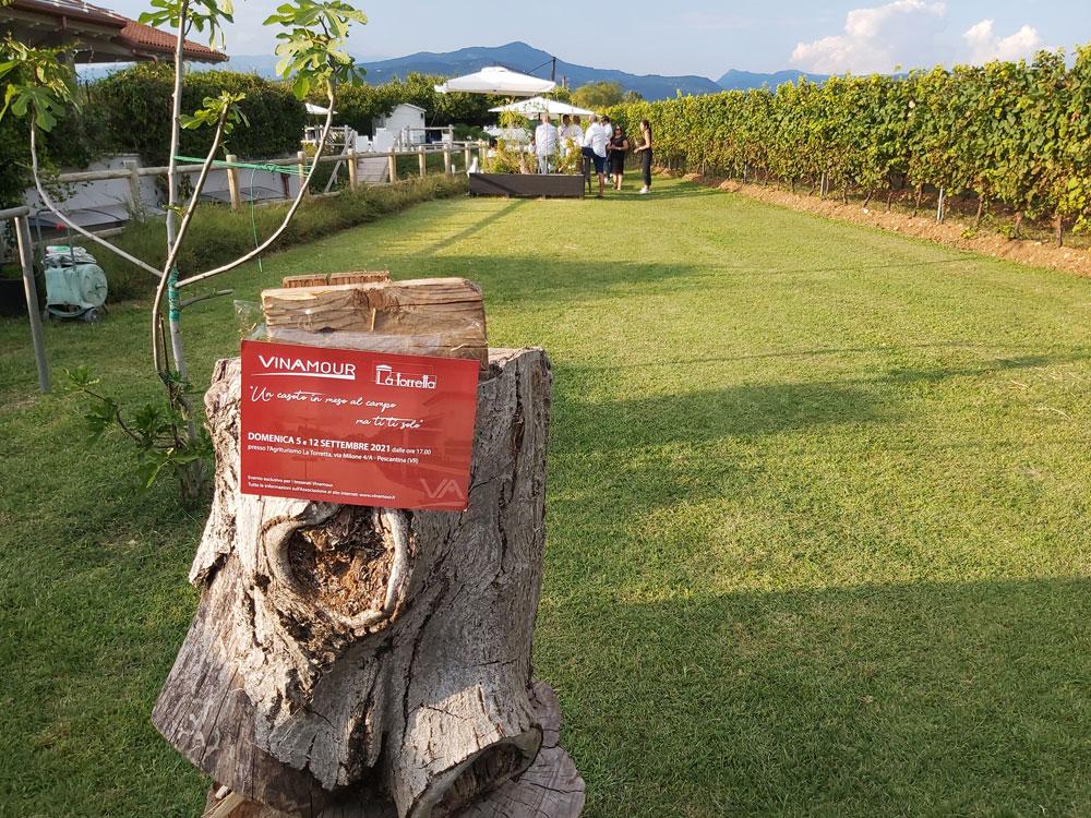 Domenica 5 settembre 2021 l'evento Vinamour presso l'Agriturismo La Torretta di Pescantina