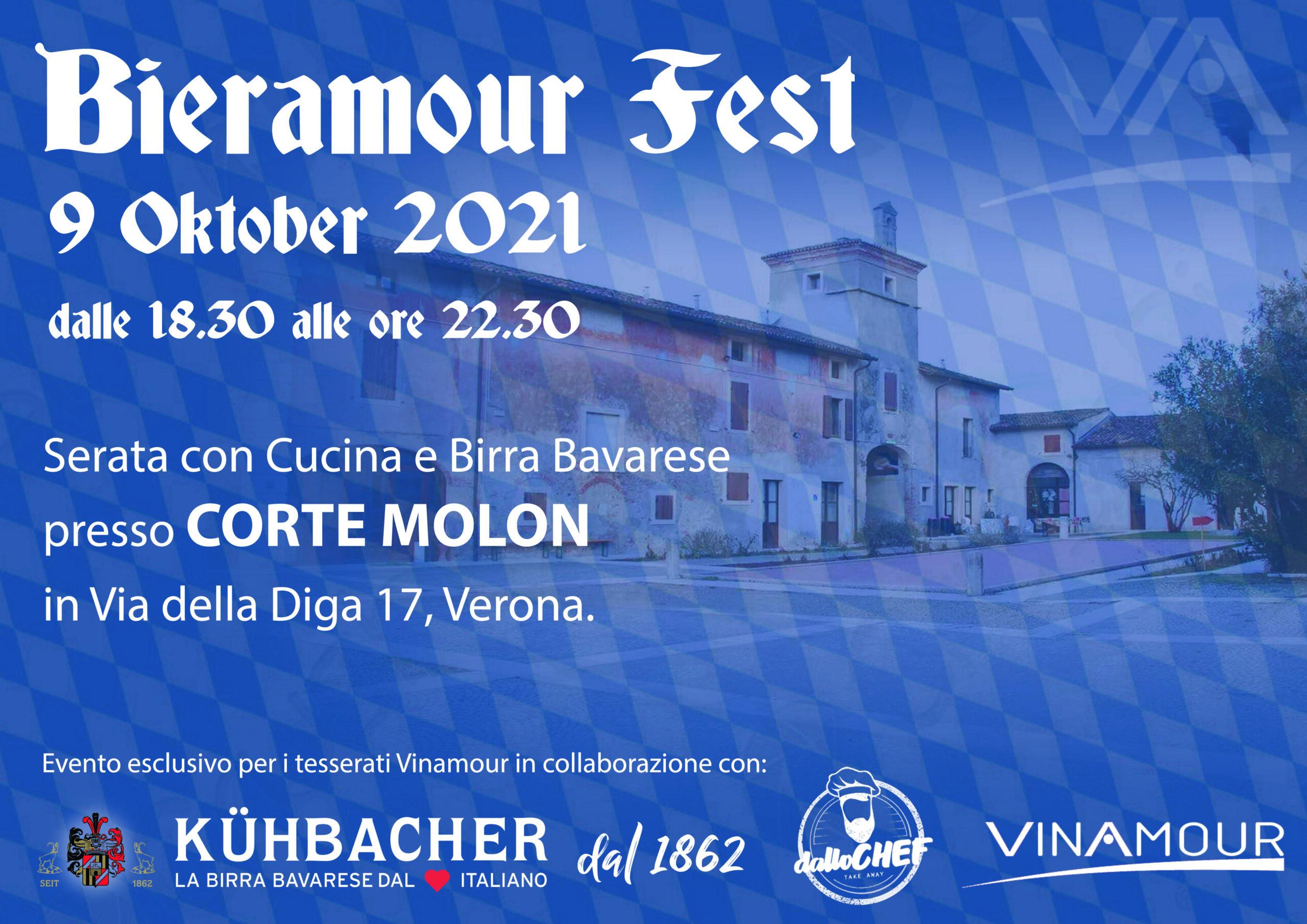 Sabato 9 ottobre dalle ore 18.30 presso Corte Molon, Vinamour presenta l'evento: Bieramour Fest