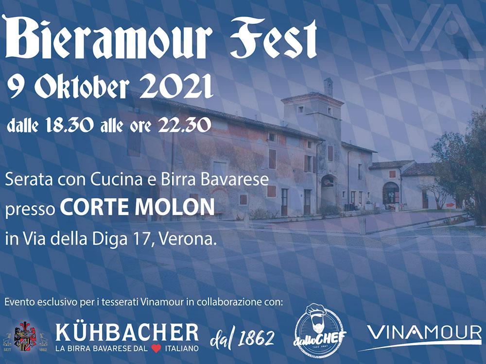 Sabato 9 ottobre presso Corte Molon, Vinamour presenta: Bieramour Fest